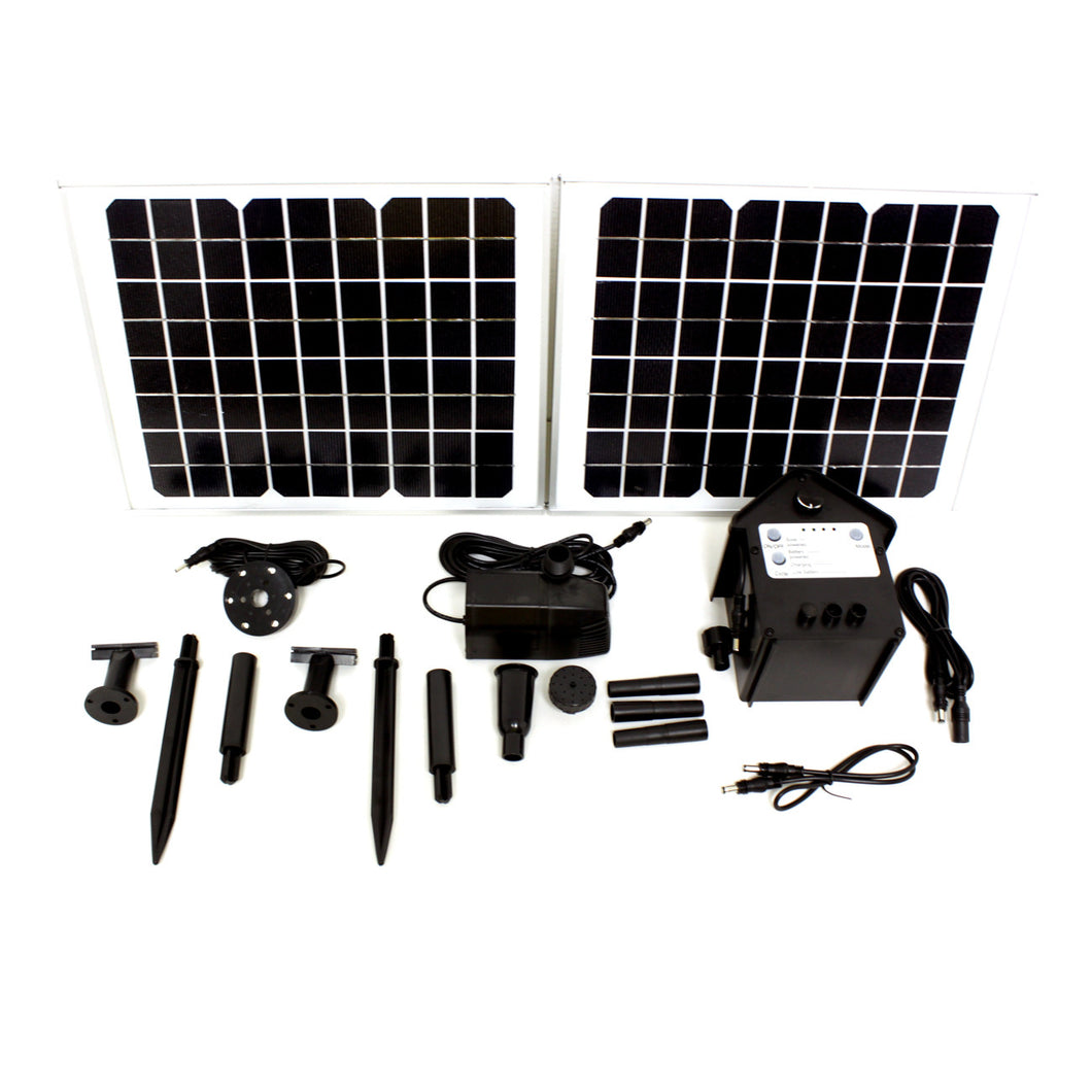20 Watts Solar Water Pump Kits with LED Battery Version 1600 LPH