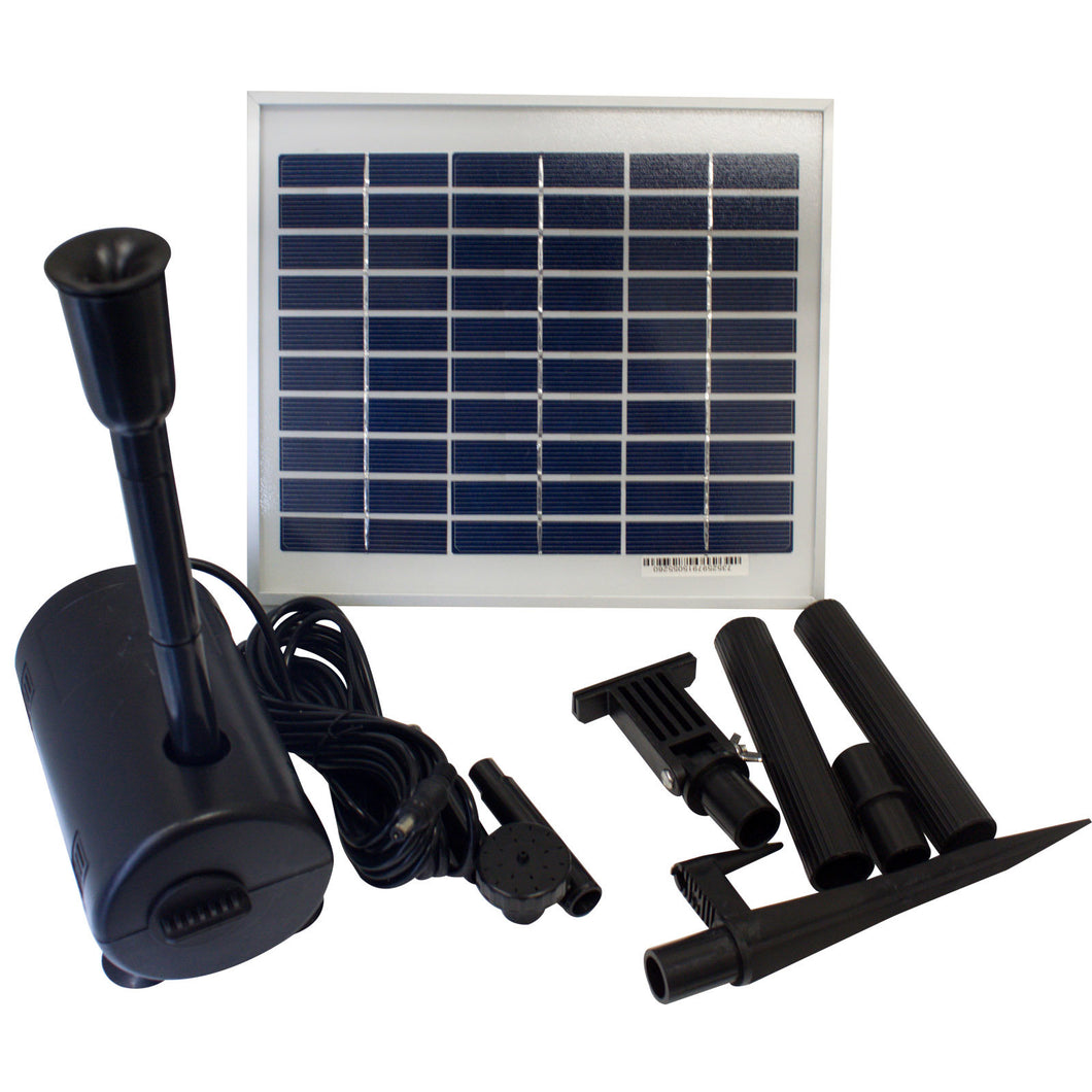 ASC 5 Watts Solar Water Pump Kit for Fountain/Pond Daytime Version - Open Box