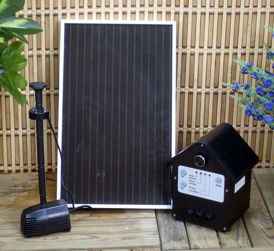 Garden Sun 3 Watt Solar Panel Water Pump Kit with Battery LED Light - Open Box