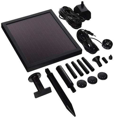 ASC 1.4 Watt Solar Water Pump Pond Kit w/ Battery & LED Light 150LPH - Open Box