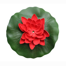 ASC Solar Powered Water Floating Lotus Fountain with Water Pump Red - Open Box