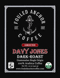 Fouled Anchor Coffee, Dark Roast, Whole Bean, Organic Fair-trade, 11.5oz bag
