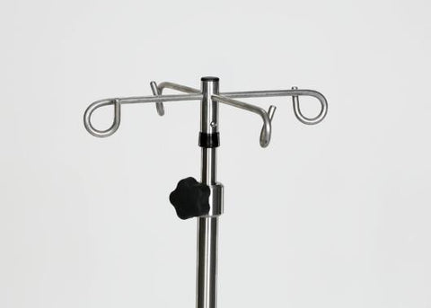 Stainless Steel 6-leg IV Pole with 4 Hook Top
