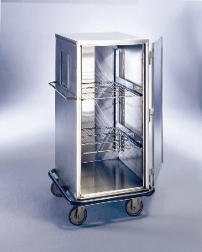 "AC504 Space-Saving Cart, Stainless Steel, 29 5/8""W x 29""D x 55 3/8""H"