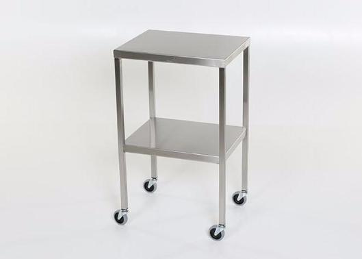 "AC2002 Stainless Steel Instrument/Back Table with Shelf: 30""W x 16""D x 34""H"