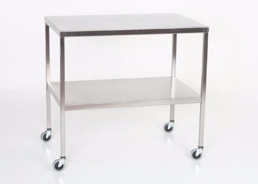 "AC2008 Stainless Steel Instrument/Back Table with Shelf: 60""W x 24""D x 34""H"