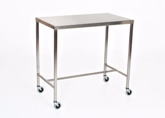 "AC2015 Stainless Steel Instrument/Back Table with H Brace: 48""W x 20""D x 34""H"