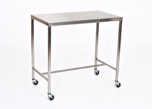"AC2014 Stainless Steel Instrument/Back Table with H Brace: 36""W x 24""D x 34""H"