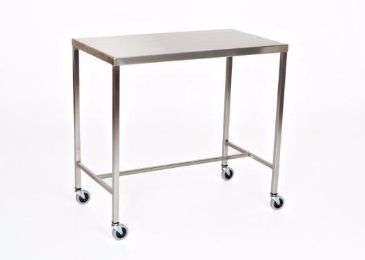 "AC2017 Stainless Steel Instrument/Back Table with H Brace: 60""W x 24""D x 34""H"