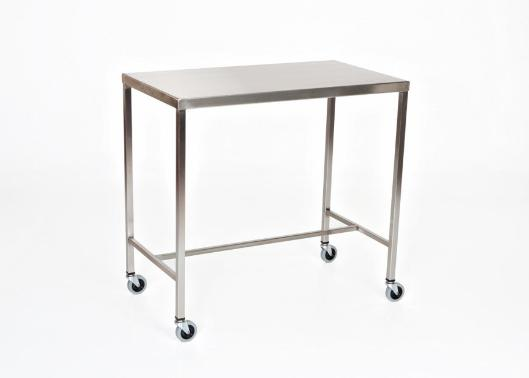 "AC2018 Stainless Steel Instrument/Back Table with H-Brace, Size: 72""W x 24""D x 34""H"
