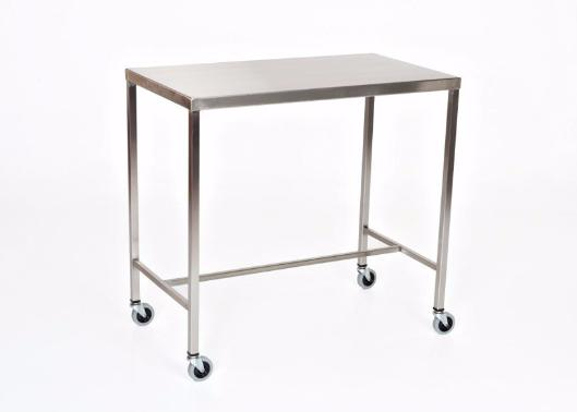 "AC2013 Stainless Steel Instrument/Back Table with H Brace: 36""W x 20""D x 34""H"