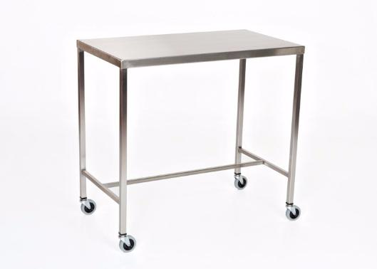 "AC2012 Stainless Steel Instrument/Back Table with H Brace: 33""W x 18""D x 34""H"