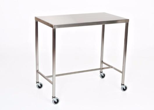 "AC2011 Stainless Steel Instrument/Back Table with H Brace: 30""W x 16""D x 34""H"