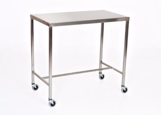 "AC2010 Stainless Steel Instrument/Back Table with H Brace: 20""W x 16""D x 34""H"