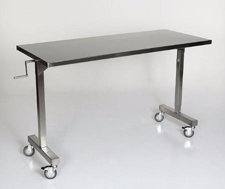 "AC2083 Height Adjustable Instrument/Back Table, 48""W x 24""D, Height Adjust 36"" to 56""H, 40""W Leg Clearance"