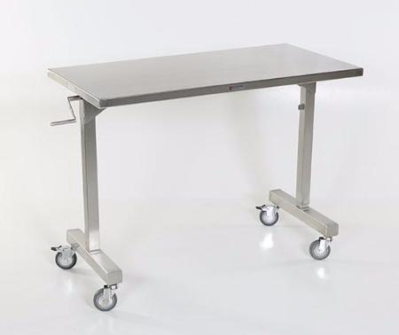 "AC2082 Height Adjustable Instrument/Back Table, 36""W x 24""D, Height Adjust 36"" to 56""H, 28""W Leg Clearance"