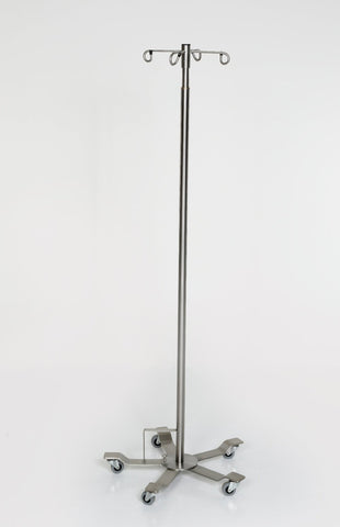 AC2117-4 Foot Control Stainless Steel IV Pole