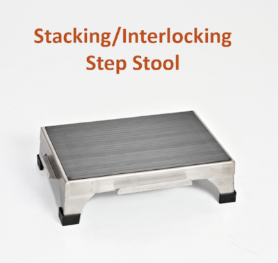 "AC2175 | Stackable Step Stool with Interlocking Edges: 18""W x 12""D x 5""H"