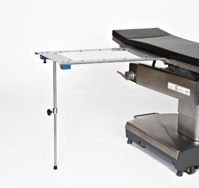 AC2204-1 Rectangle Stainless Steel Arm & Hand Surgery Table: Under-the-Pad Mount with Single Post Foot