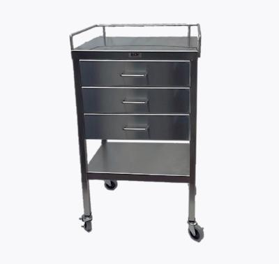 AC234 Stainless Steel Anesthesia/Utility Table with 3 Drawers
