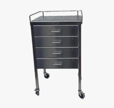 AC236 Stainless Steel Anesthesia/Utility Table with 4 Drawers