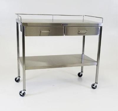 AC237 Stainless Steel Extra Large Utility/Prep Table with 2 Drawers