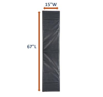 "AC61 Full-Length Patient Transfer Roller Board: 67"" Long x 15"" Wide"