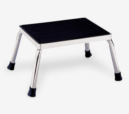 "AC718 | Chrome Step Stool: 14-1/4""W x 11-3/8""D x 9""H"