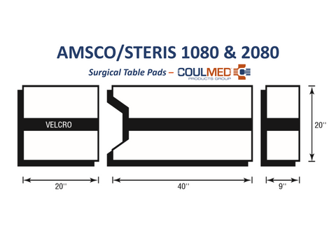 AMSCO/STERIS 1080 & 2080 Surgical Table Pads