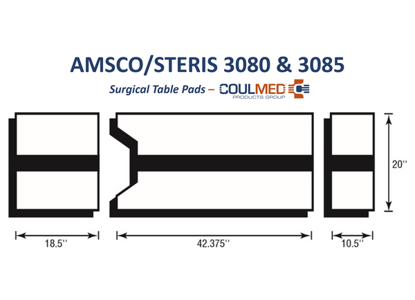AMSCO/STERIS 3080 & 3085 Surgical Table Pads