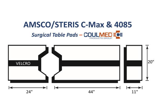 AMSCO/STERIS C-Max & 4085 Surgical Table Pads