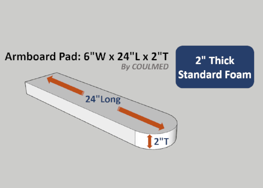 "Surgical Armboard Pad: 2""thick x 24""long"