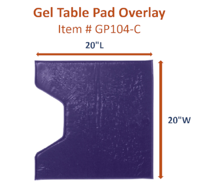 GP104-C Gel Overlay Leg/Foot Section for Segmented Surgical Tables