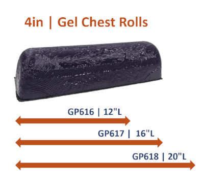 4in Gel Chest Rolls: (3 Sizes)