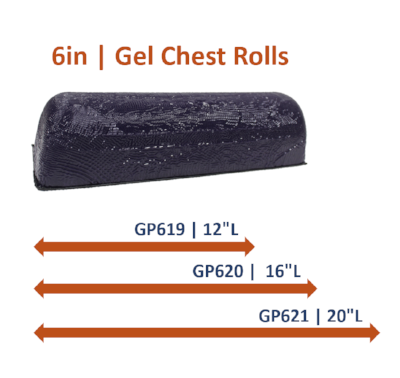 6in Gel Chest Rolls: (3 Sizes)