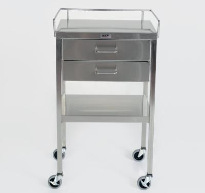 AC232 Stainless Steel Anesthesia/Utility Table with 2 Drawers