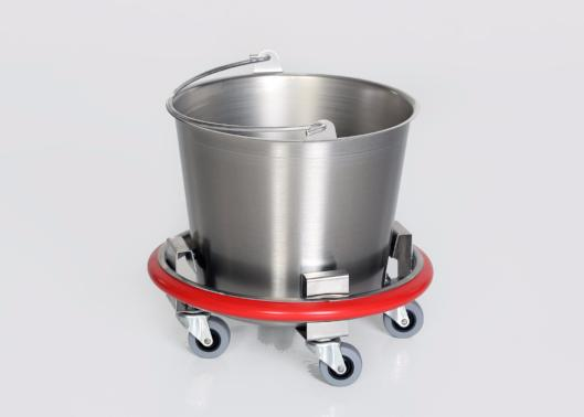 Stainless Steel Kick Bucket with Removable 12 qt. Basin