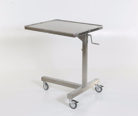 "MS770 Stainless Steel Ventric Stand, Non-Removable Tray: 26""W x 30""L, 36 - 56""H, Weight Capacity 100lb"