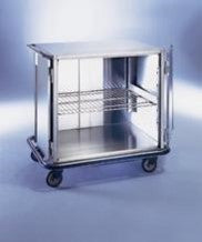 "AC501 Mini Closed Case Cart, Stainless Steel, 42""W x 29""D x 40 1/4""H"