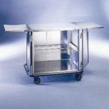 "AC502 Mini Closed Case Cart, Stainless Steel, With Extension Shelves, 42""W x 29""D x 40 1/4""H"