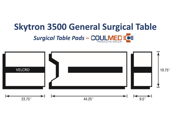 Skytron 3500 Surgical Table Pads
