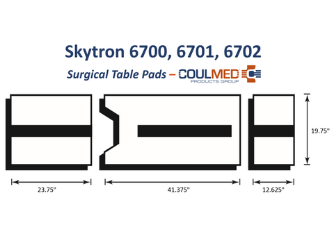 Skytron 6700, 6701, 6702 Surgical Table Pads