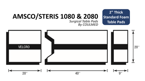 AMSCO/STERIS 1080 & 2080 Standard Surgical Table Pads