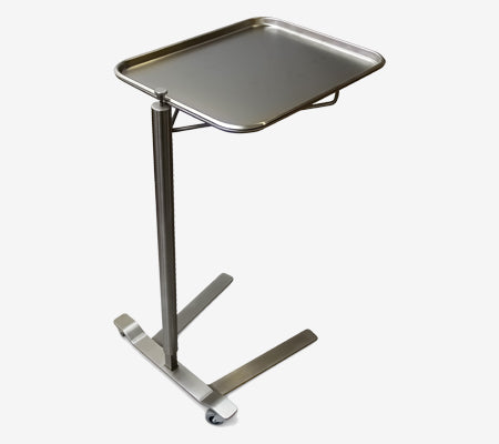 "MS760 Stainless Steel Mayo Stand, Thumb Control, Removable Tray: 12 5/8""W 19 1/8""L, 36 - 62""H"