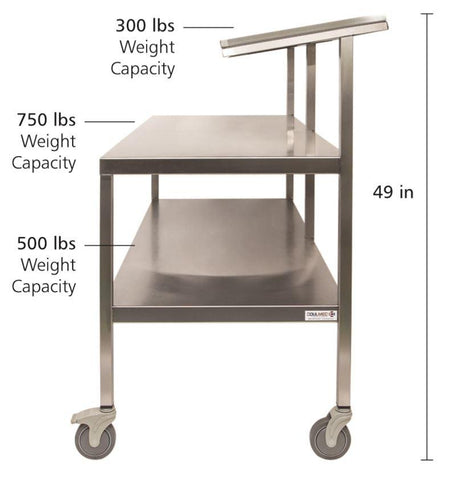 Heavy Duty Two Tier Instrument Table