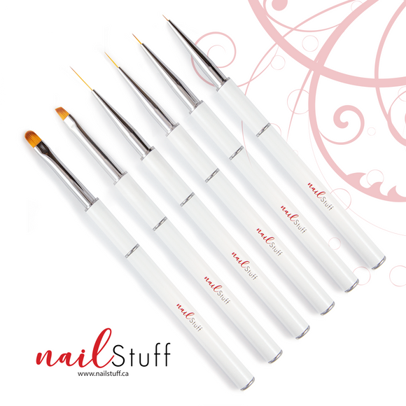 NailStuff Nail Brush Set (6 pcs)