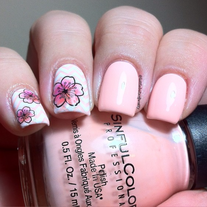 Floral 4 Nail Sticker