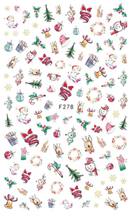 Christmas Ornaments - Nail Sticker