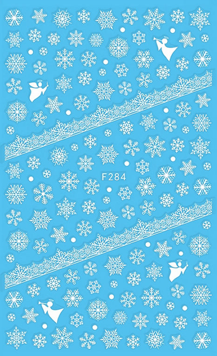 Snowflakes and Lace - Nail Sticker