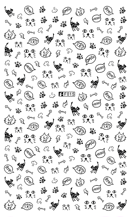 Cats 1 - Nail Sticker Thumbnail